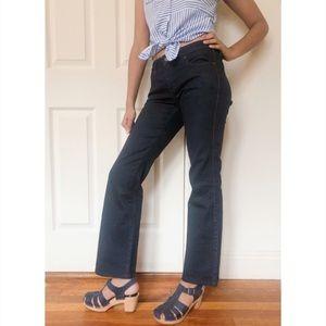 Uniqlo Wide leg flare dark wash jeans 2 JN